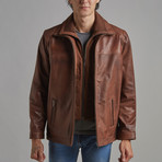 Cameron Leather Jacket // Chestnut (S)