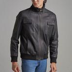 Carson Leather Jacket // Black (XS)