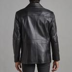 Jackson Leather Jacket // Black (3XL)