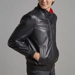 Grayson Leather Jacket // Black (4XL)