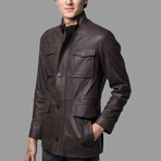 Logan Leather Jacket // Light Brown (XL)