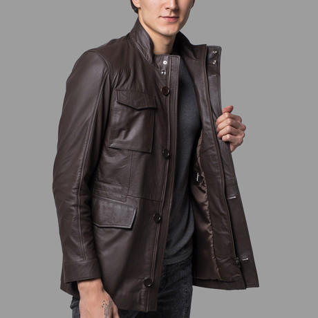 Logan Leather Jacket // Light Brown (XS)
