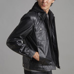 Ian Leather Jacket // Black (4XL)