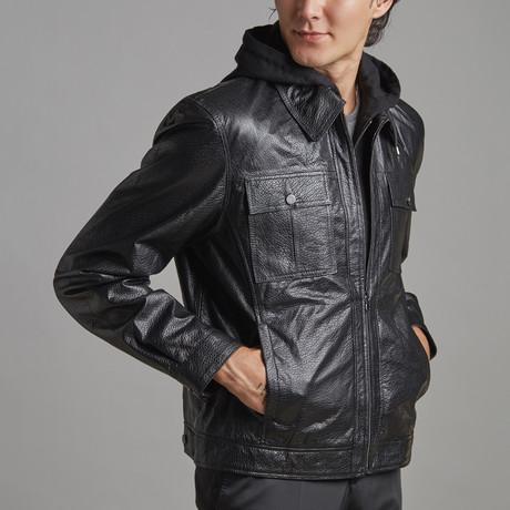 Ian Leather Jacket // Black (XS)