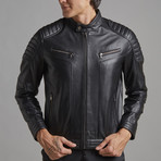 Levi Leather Jacket // Black (3XL)