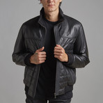 Colton Leather Jacket // Black (S)