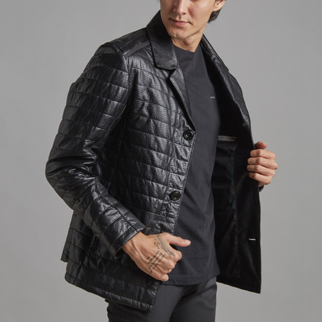 Charles Leather Jacket // Black (XS)