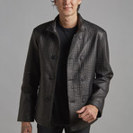 Isaac Leather Jacket // Black (L)