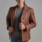 Hudson Leather Jacket // Chestnut (XL)