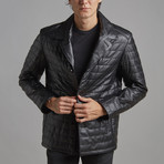 Charles Leather Jacket // Black (5XL)