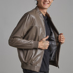 Easton Leather Jacket // Mink (XS)