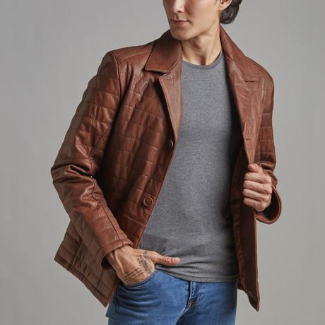 Hudson Leather Jacket // Chestnut (XS)
