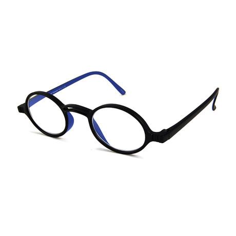 Men's Rond Readers // Black + Blue (1.00x)