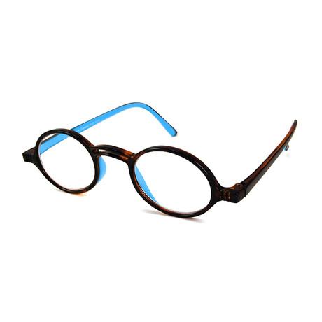 Men's Rond Readers // Tortoise + Blue (1.00x)