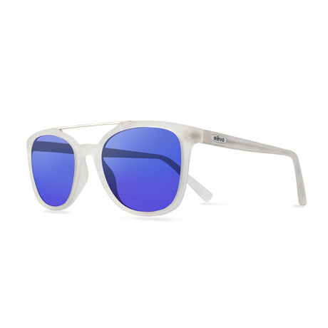 Clayton Polarized Sunglasses (Crystal // H2O Blue Lens)