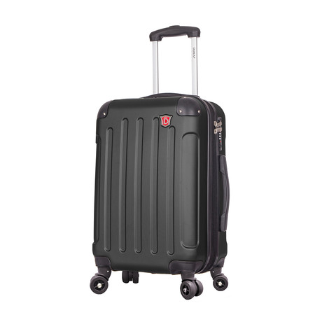"Intely Hardside Spinner 20"" Carry-On // USB + Micro USB Cables (Black)"
