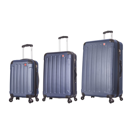 "Intely Smart Hardside Spinners // Set of 3 // 20"" Carry On + 28""+ 32"" (Black)"