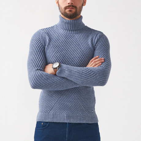 Ethan Tricot Sweater // Indigo (S)