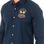 Frances Long Sleeve Shirt // Navy Blue (Small)