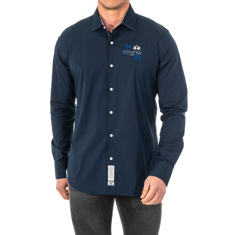 Rocco Long Sleeve Shirt // Blue (Small)