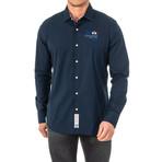 Rocco Long Sleeve Shirt // Blue (2X-Large)