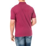 Calvin Short Sleeve Polo Shirt // Purple (Large)