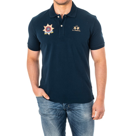 Chandler Short Sleeve Polo Shirt // Navy Blue (X-Small)