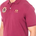 Calvin Short Sleeve Polo Shirt // Purple (Medium)