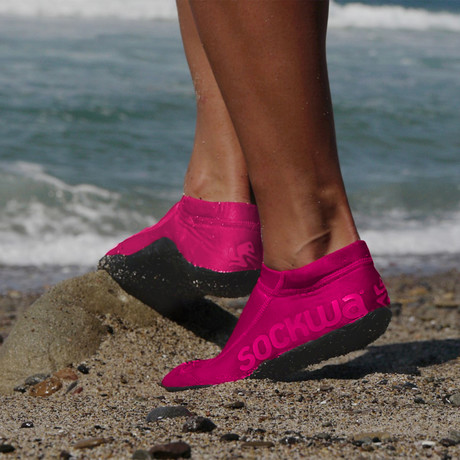 Sockwa // G2 Shoe // Pink (Men's US 4)