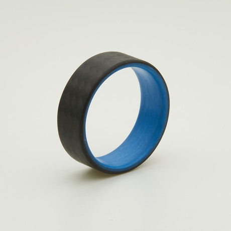 Carbon Fiber Twill Ring // Blue Interior (5)