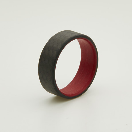 Carbon Fiber Twill Ring // Red Interior (5)