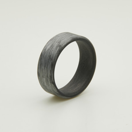 Texalium Silver Ring // Black Carbon Inside (5)