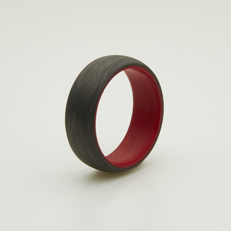 Carbon Fiber Legacy Ring // Red Interior (5)