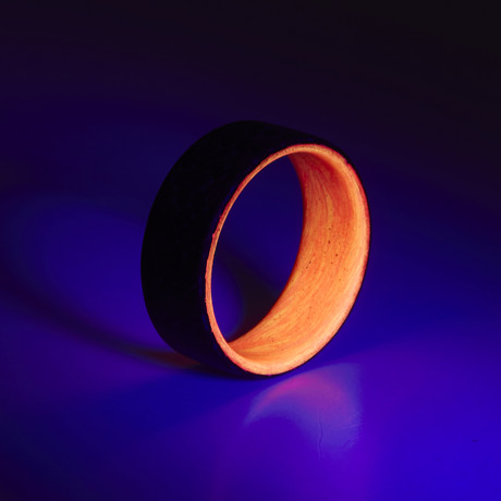 Carbon Fiber Twill Red + Orange Glow Ring (5)