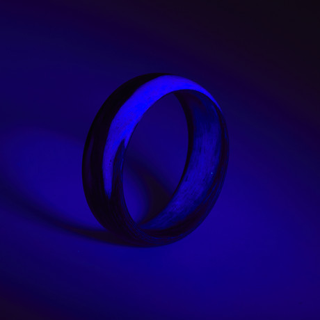 Carbon Fiber Purple Marbled Glow Ring (5)