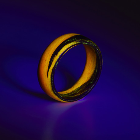 Carbon Fiber Orange Marbled Glow Ring (5)