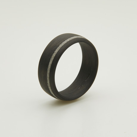 Carbon Fiber Legacy Ring // Diamond Inlay (5)