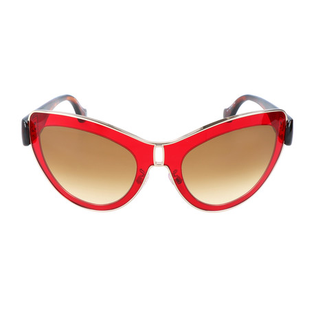 Women's BA0001 Sunglasses // Shiny Red