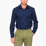 Jonathon Oxford Slim Fit Shirt // Dark Blue (L)