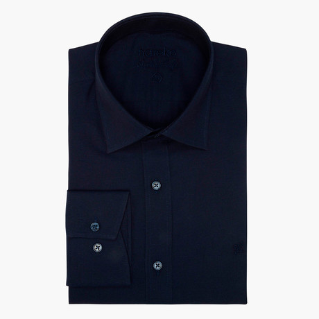 Jonathon Oxford Slim Fit Shirt // Dark Blue (L)