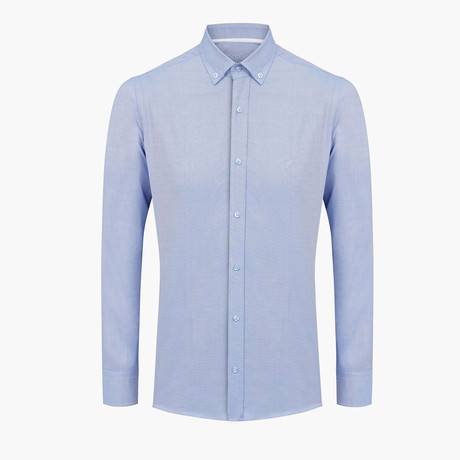 Alexander Oxford Slim Fit Shirt // Light Blue (L)