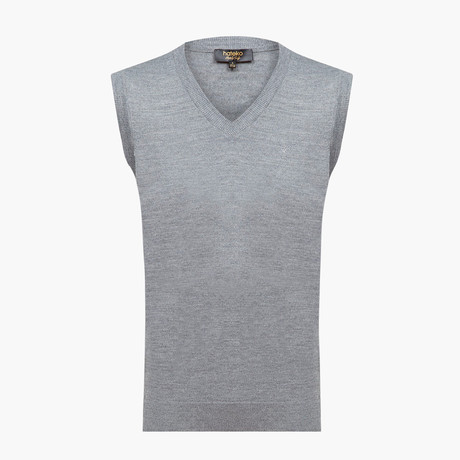 Hayden Woolen Sweater Vest // Light Gray (L)