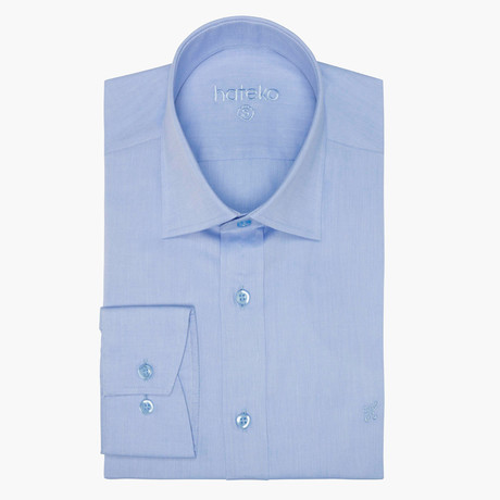 Jonathon Oxford Slim Fit Shirt // Light Blue (L)