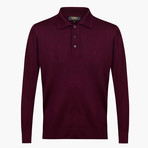 Wright Woolen Polo Sweater // Maroon (L)