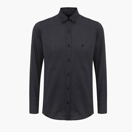 Gordon Slim Fit Shirt // Black (L)