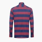 Nathaniel Checkered Slim Fit Shirt // Maroon (L)