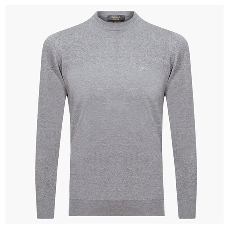 Theodore Woolen Crewneck Sweater // Light Gray (L)