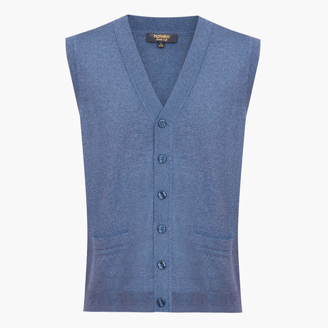 Marshall Woolen Sweater Vest // Blue (L)