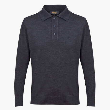 Wilson Woolen Polo Sweater // Anthracite (L)