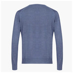 Anthony Woolen V-Neck Sweater // Blue (M)